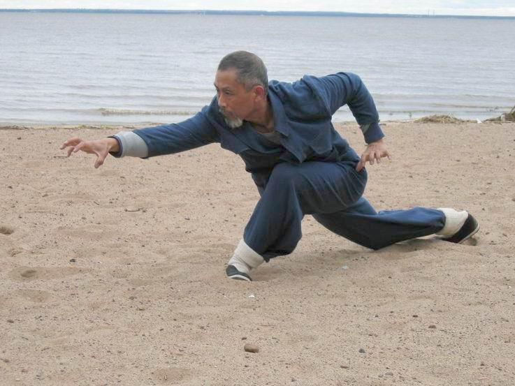 Мастер чэнь цзие выполняет форму